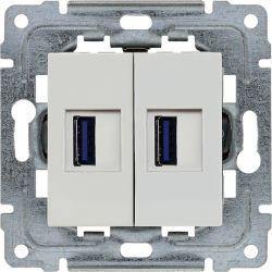 450457 Ładowarka USB 3.0 podwójna 5V 2A, bez ramki