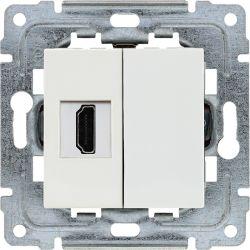 450250 Gniazdo multimedialne HDMI, bez ramki
