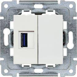 450251 Gniazdo multimedialne USB, bez ramki