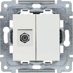 450254 Gniazdo TV SAT pojedyncze  typu F