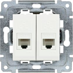 450267 Gniazdo komputerowe podwójne 2xRJ45, bez ramki