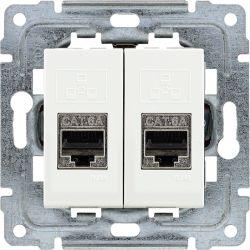 450268 Gniazdo komputerowe podwójne 2xRJ45, bez ramki