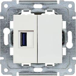 450255 Ładowarka USB 3.0 pojedyncza 5V 2A, bez ramki