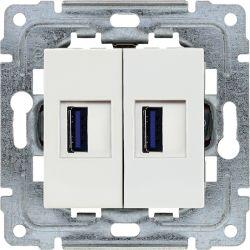450257 Ładowarka USB 3.0 podwójna 5V 2A, bez ramki