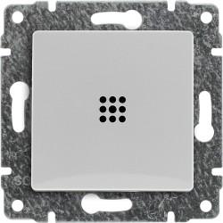 520411 Łącznik pojedynczy podświetlany z klawiszem, bez ramki