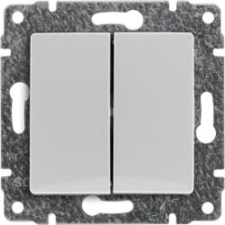 520415 Łącznik podwójny podświetlany z klawiszem, bez ramki