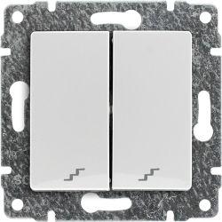 510219 Łącznik podwójny schodowy z klawiszem, bez ramki