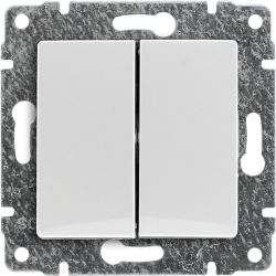 510220 Przycisk podwójny z klawiszem, bez ramki