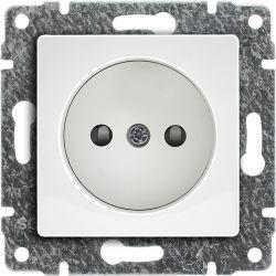 510233 Gniazdo poj. z przesłoną torów prądowych, bez ramki
