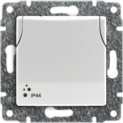 510239 Gniazdo bryzgoszczelne poj. z uziemieniem z przesłoną torów prądowych, bez ramki