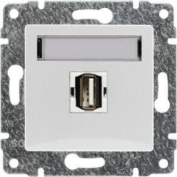 510251 Gniazdo multimedialne USB, bez ramki