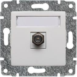 510254 Gniazdo TV SAT pojedyncze  typu F