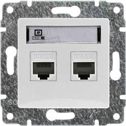 510267 Gniazdo komputerowe podwójne 2xRJ45, bez ramki