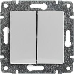 510422 Łącznik podwójny dwuobwodowy z klawiszem, bez ramki