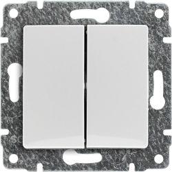 510222 Łącznik podwójny dwuobwodowy z klawiszem, bez ramki
