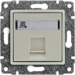 510365 Gniazdo komputerowe poj. RJ45 (wkład MOLEX),  bez ramki