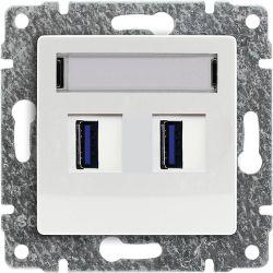 510257 Ładowarka USB 3.0 podwójna 5V 2A, bez ramki