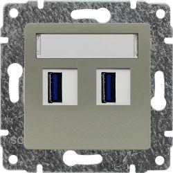 515057 Ładowarka USB 3.0 podwójna 5V 2A, bez ramki