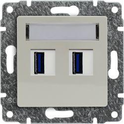 510357 Ładowarka USB 3.0 podwójna 5V 2A, bez ramki