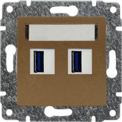 513057 Ładowarka USB 3.0 podwójna 5V 2A, bez ramki