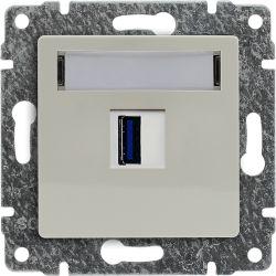 510355 Ładowarka USB 3.0 pojedyncza 5V 2A, bez ramki