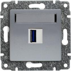 514055 Ładowarka USB 3.0 pojedyncza 5V 2A, bez ramki