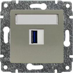 515055 Ładowarka USB 3.0 pojedyncza 5V 2A, bez ramki
