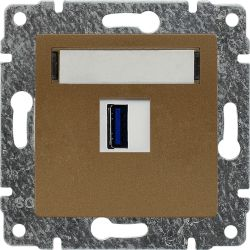 513055 Ładowarka USB 3.0 pojedyncza 5V 2A, bez ramki
