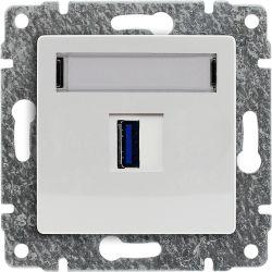 590455 Ładowarka USB 3.0 pojedyncza 5V 2A z powłoką antybakteryjną, bez ramki