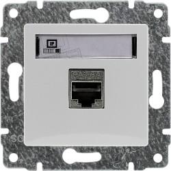 510461 Gniazdo komputerowe poj. nieekranowane RJ45,  bez ramki