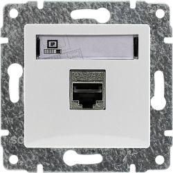 510261 Gniazdo komputerowe poj. nieekranowane RJ45,  bez ramki