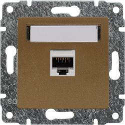 513061 Gniazdo komputerowe poj. nieekranowane RJ45,  bez ramki