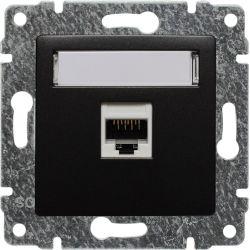 516161 Gniazdo komputerowe poj. nieekranowane RJ45,  bez ramki
