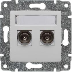 510456 Gniazdo TV podwójne z listwą zaciskową