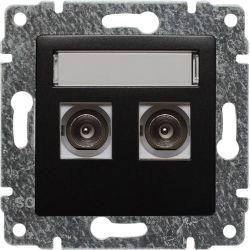 516156 Gniazdo TV podwójne z listwą zaciskową