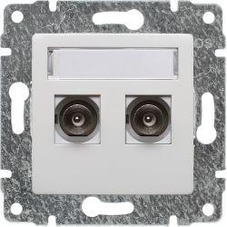 510256 Gniazdo TV podwójne z listwą zaciskową