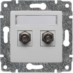 510458 Gniazdo - złącze TV podwójne żeńskie typ F