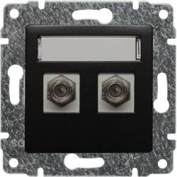 516158 Gniazdo - złącze TV podwójne żeńskie typ F