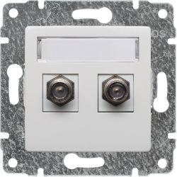 510258 Gniazdo - złącze TV podwójne żeńskie typ F
