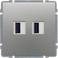 664057 Ładowarka USB 3.0 podwójna