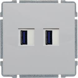 660457 Ładowarka USB 3.0 podwójna
