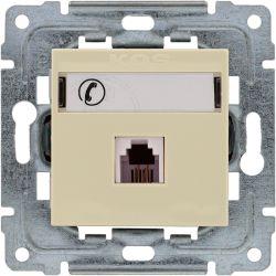 450363 Gniazdo telefoniczne  pojedyncze, z etykietą, bez ramki