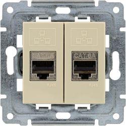 450368 Gniazdo komputerowe podwójne 2xRJ45, bez ramki