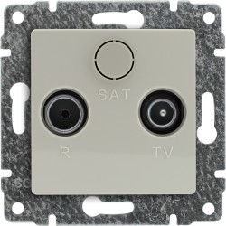 510373 Gniazdo antenowe RTV końcowe, bez ramki
