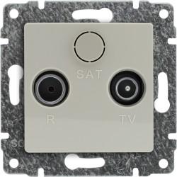 510374 Gniazdo antenowe RTV przelotowe, bez ramki