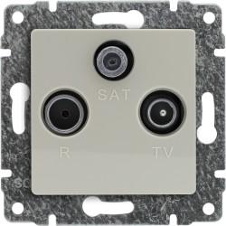 510376 Gniazdo antenowe RTV SAT końcowe, bez ramki