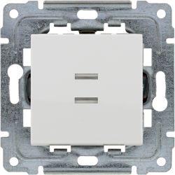 460410 Przycisk światło/dzwonek podświetlany z klawiszem bez piktogramu bez ramki