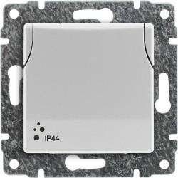 510439 Gniazdo bryzgoszczelne poj. z uziemieniem z przesłoną torów prądowych, bez ramki