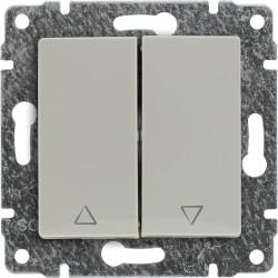 510318 Przycisk żaluzjowy z klawiszem, bez ramki