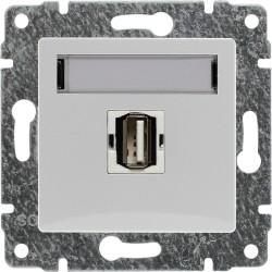 510451 Gniazdo multimedialne USB, bez ramki